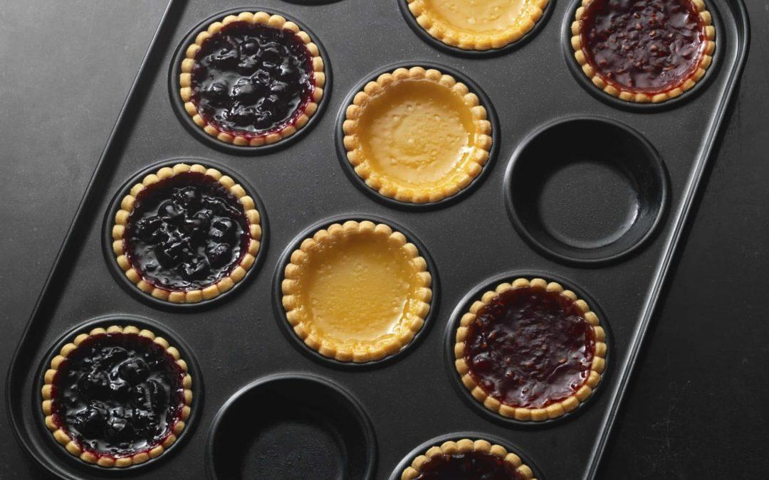 Seasonal Recipe – Jam tarts (Blackcurrant Jam, Raspberry Jam and Lemon Curd)